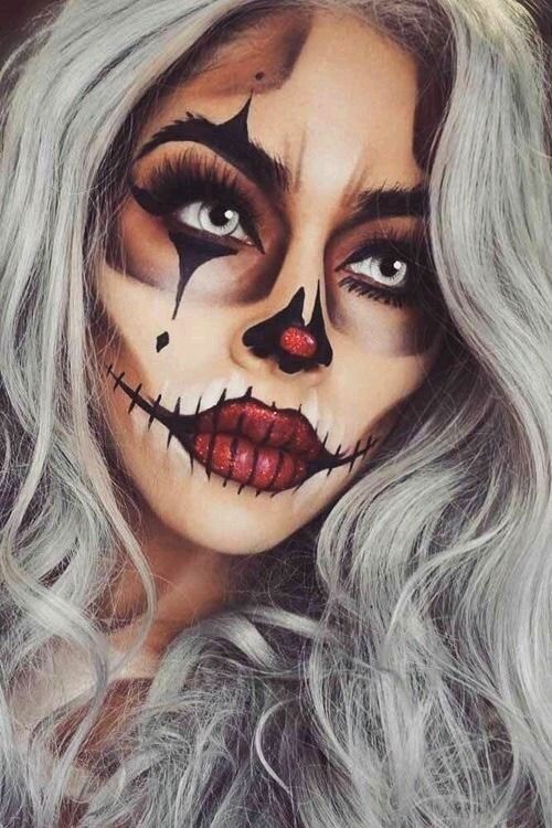 Halloween-Clown-Makeup-Looks-Ideas-For-Girls-Women-2019-4