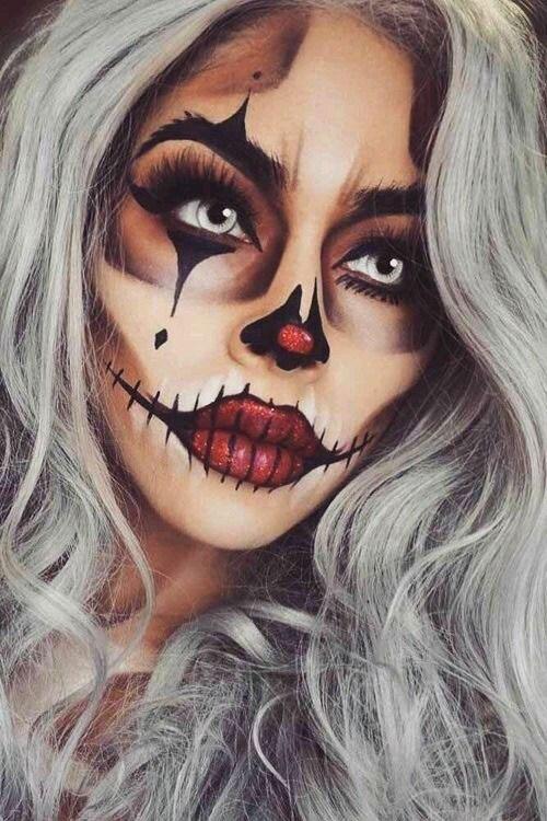 Halloween-Clown-Makeup-Looks-Ideas-For-Girls-Women-2019-4