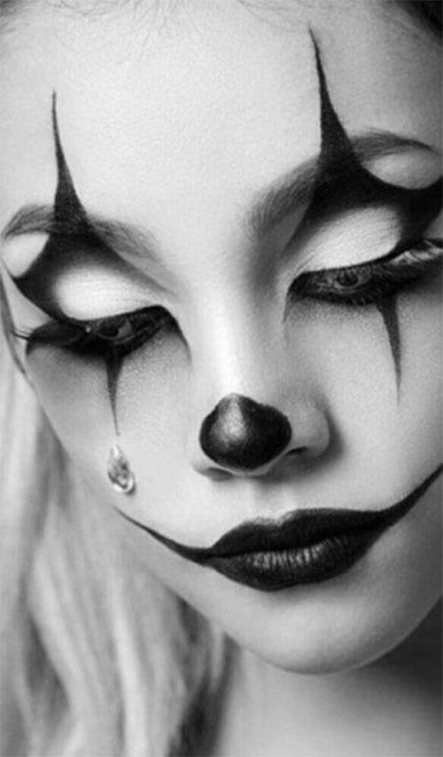 Halloween-Clown-Makeup-Looks-Ideas-For-Girls-Women-2019-5