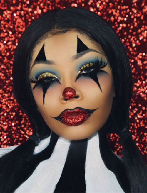 Halloween-Clown-Makeup-Looks-Ideas-For-Girls-Women-2019-7