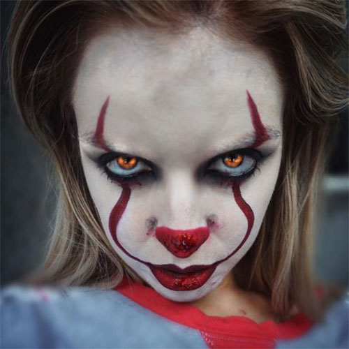 Halloween-Clown-Makeup-Looks-Ideas-For-Girls-Women-2019-9