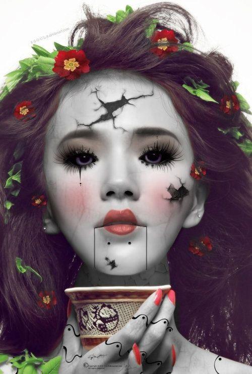 Halloween-Doll-Face-Makeup-Ideas-2019-Broken-Doll-Makeup-1