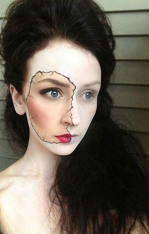 Halloween-Doll-Face-Makeup-Ideas-2019-Broken-Doll-Makeup-10