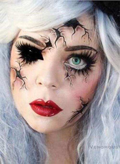 Halloween-Doll-Face-Makeup-Ideas-2019-Broken-Doll-Makeup-13