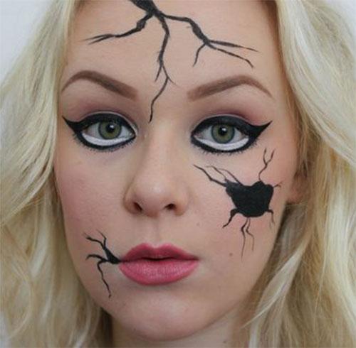 Halloween-Doll-Face-Makeup-Ideas-2019-Broken-Doll-Makeup-14