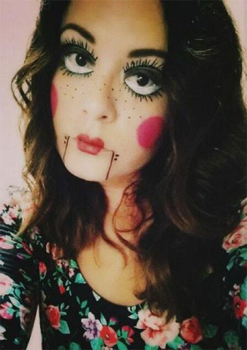 Halloween-Doll-Face-Makeup-Ideas-2019-Broken-Doll-Makeup-15