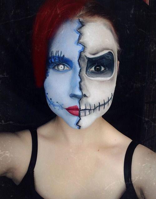 Halloween-Doll-Face-Makeup-Ideas-2019-Broken-Doll-Makeup-2