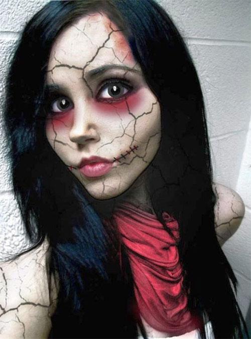 Halloween-Doll-Face-Makeup-Ideas-2019-Broken-Doll-Makeup-7