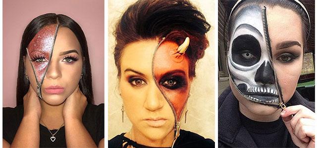 Maquillage Halloween Zipper.Zipper Face Makeup Tutorial Saubhaya Makeup