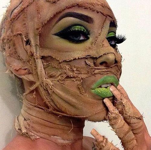 Mummy-Halloween-Makeup-Looks-Ideas-For-Girls-Women-2019-13