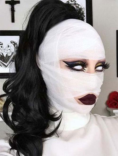 Mummy-Halloween-Makeup-Looks-Ideas-For-Girls-Women-2019-14