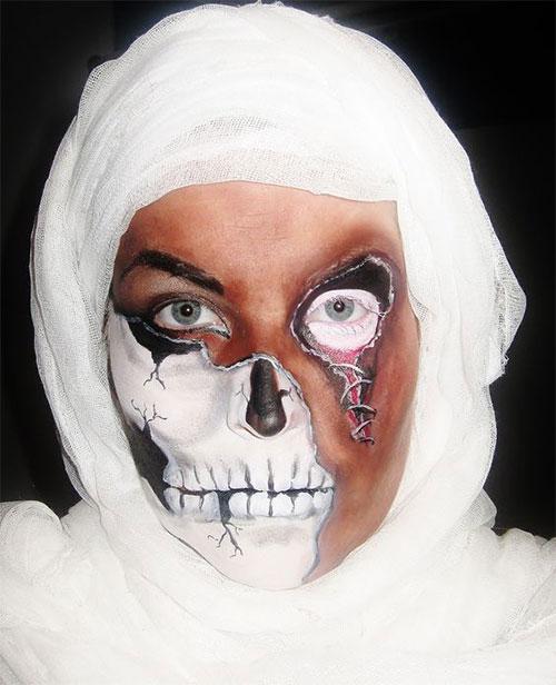 Mummy-Halloween-Makeup-Looks-Ideas-For-Girls-Women-2019-3