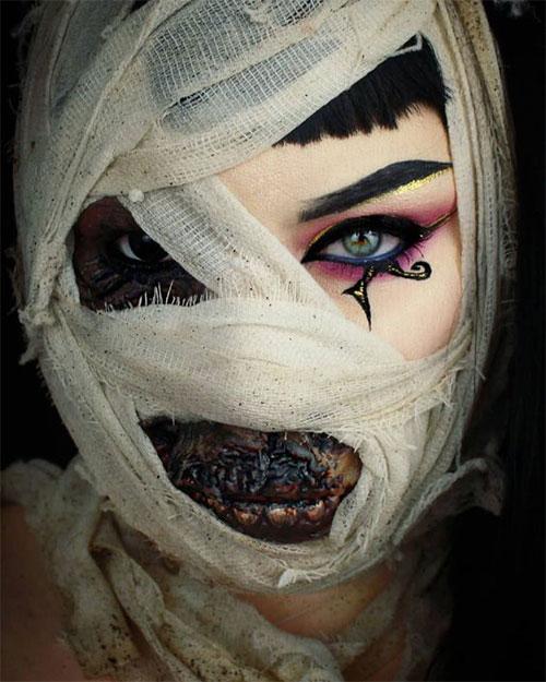 Mummy-Halloween-Makeup-Looks-Ideas-For-Girls-Women-2019-4