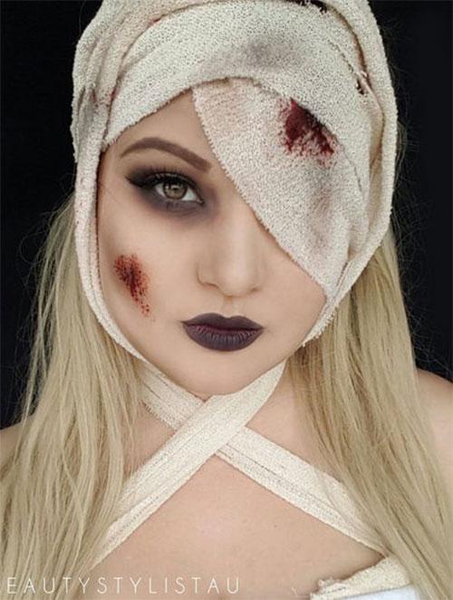 Mummy-Halloween-Makeup-Looks-Ideas-For-Girls-Women-2019-5