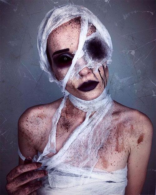 Mummy-Halloween-Makeup-Looks-Ideas-For-Girls-Women-2019-8