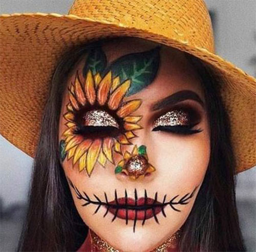 Scarecrow-Halloween-Makeup-Looks-Ideas-2019-1