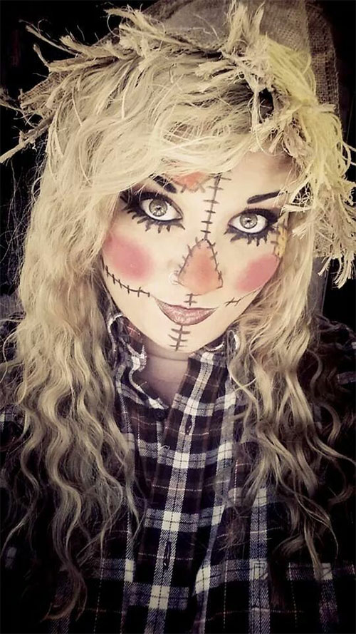 Scarecrow-Halloween-Makeup-Looks-Ideas-2019-10