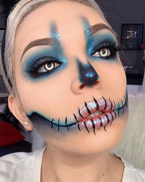 Scarecrow-Halloween-Makeup-Looks-Ideas-2019-11