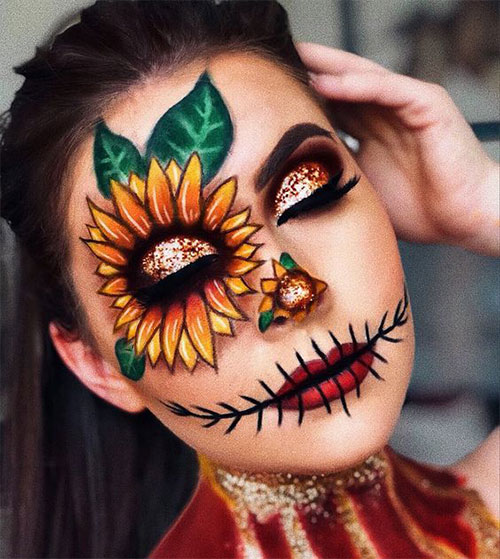 Scarecrow-Halloween-Makeup-Looks-Ideas-2019-15