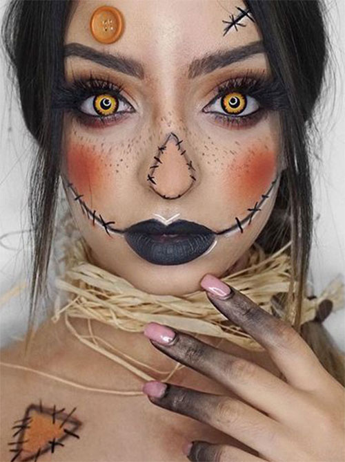 Scarecrow-Halloween-Makeup-Looks-Ideas-2019-2