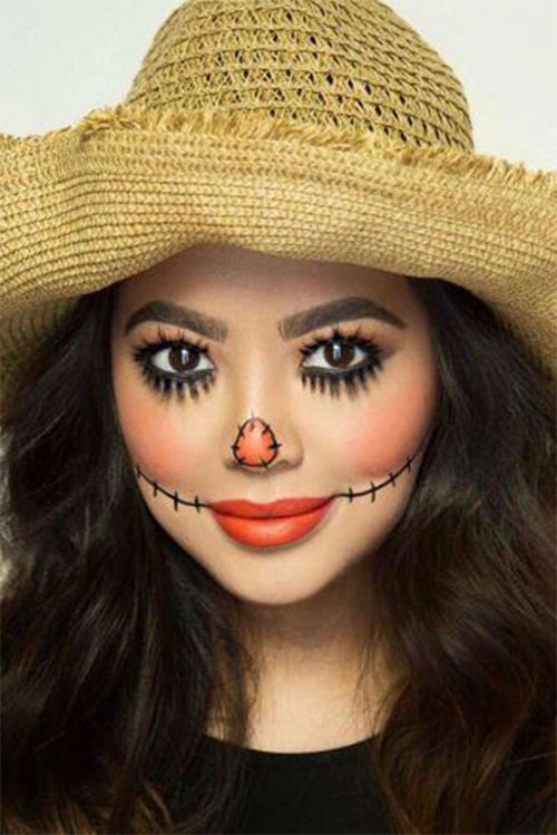 Scarecrow-Halloween-Makeup-Looks-Ideas-2019-3
