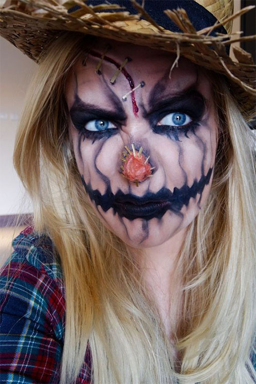 Scarecrow-Halloween-Makeup-Looks-Ideas-2019-4