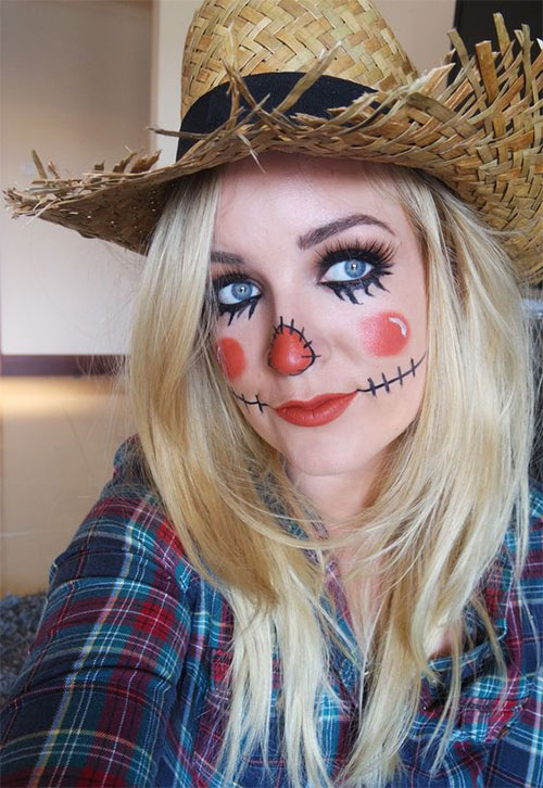 Scarecrow-Halloween-Makeup-Looks-Ideas-2019-5