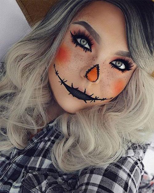 Scarecrow-Halloween-Makeup-Looks-Ideas-2019-6