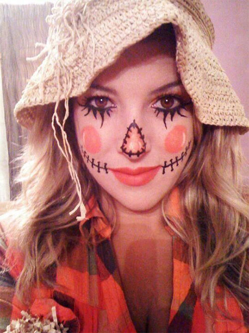 Scarecrow-Halloween-Makeup-Looks-Ideas-2019-8