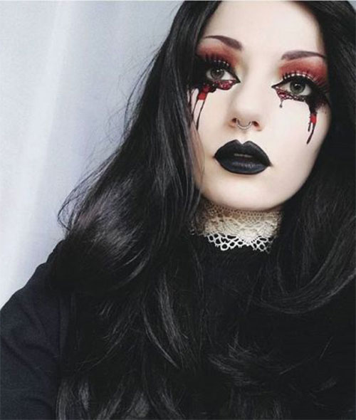 Witch-Halloween-Make-Up-Looks-For-Girls-Women-2019-1