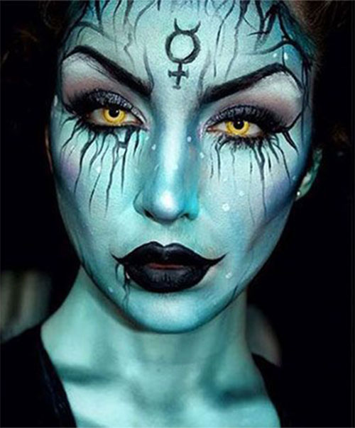 Witch-Halloween-Make-Up-Looks-For-Girls-Women-2019-4