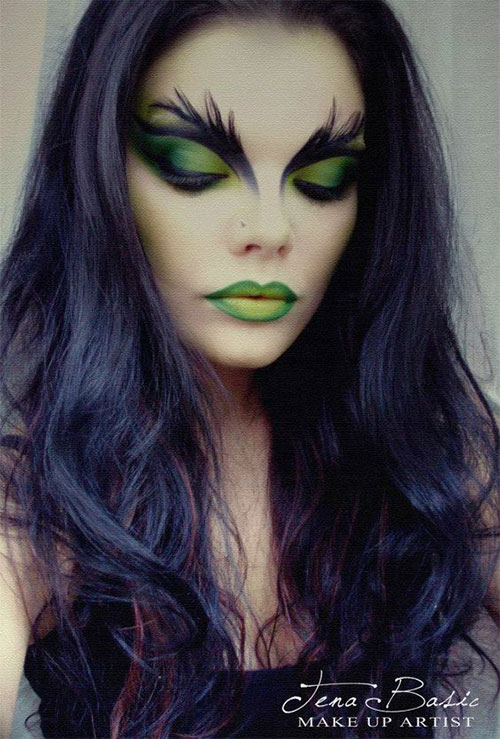 Witch-Halloween-Make-Up-Looks-For-Girls-Women-2019-7