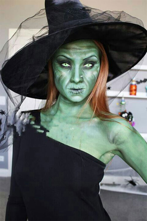 Witch-Halloween-Make-Up-Looks-For-Girls-Women-2019-9
