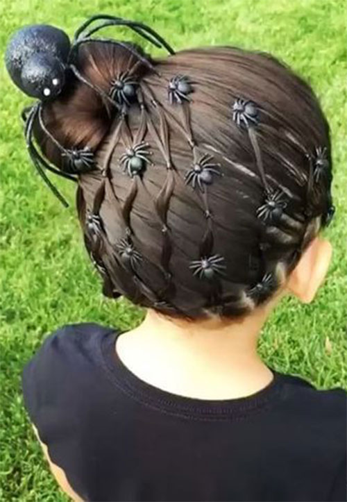 Halloween-Hairstyles-For-Kids-Girls-2019-Hair-Ideas-1