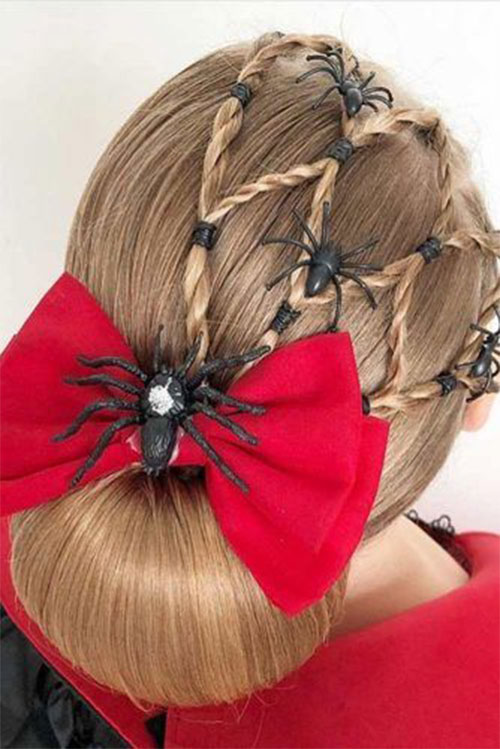 Halloween-Hairstyles-For-Kids-Girls-2019-Hair-Ideas-3