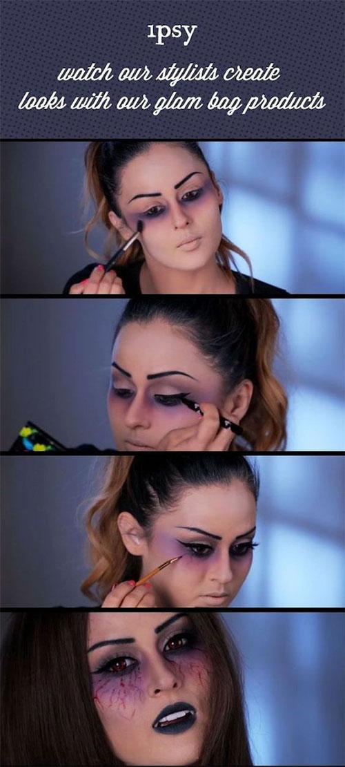 Step-By-Step-Halloween-Makeup-Tutorials-For-Beginners-2019-14
