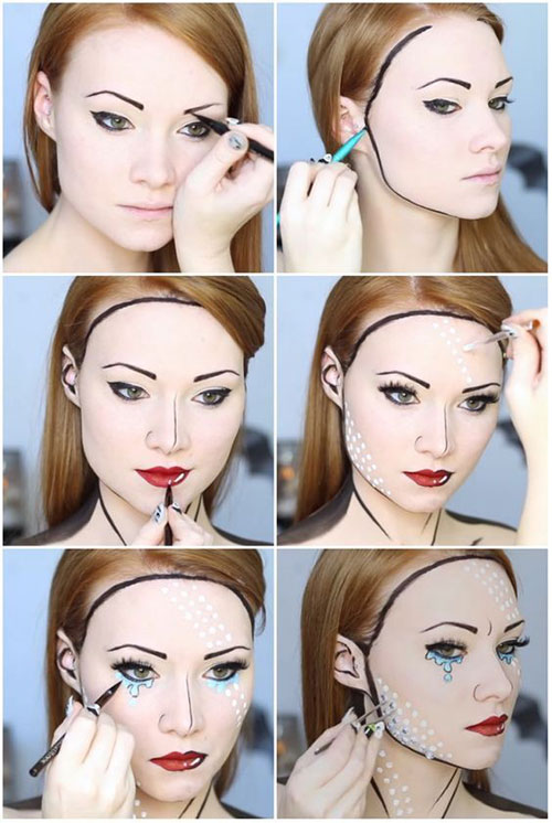Step-By-Step-Halloween-Makeup-Tutorials-For-Beginners-2019-9