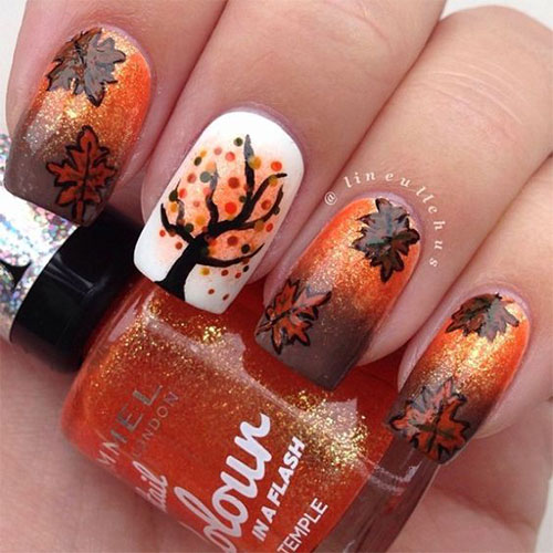 Best-Autumn-Nails-Art-Designs-Ideas-2019-2