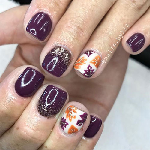 Best-Autumn-Nails-Art-Designs-Ideas-2019-21