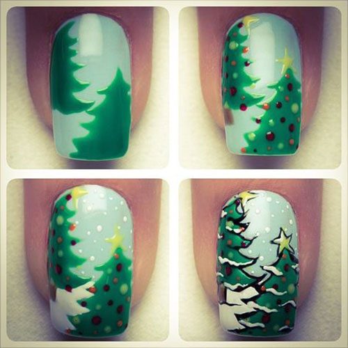 Christmas-Nail-Art-Tutorials-For-Beginners-Learners-2019-10
