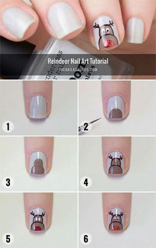 Christmas-Nail-Art-Tutorials-For-Beginners-Learners-2019-13