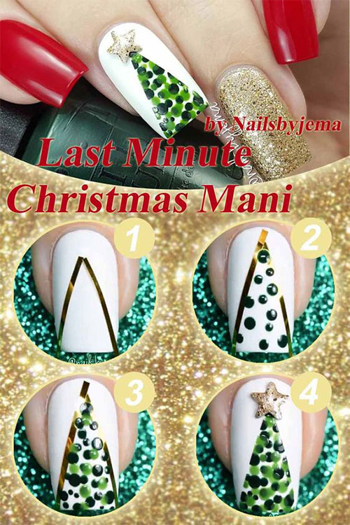 Christmas-Nail-Art-Tutorials-For-Beginners-Learners-2019-3