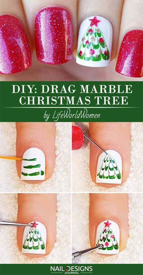 Christmas-Nail-Art-Tutorials-For-Beginners-Learners-2019-4