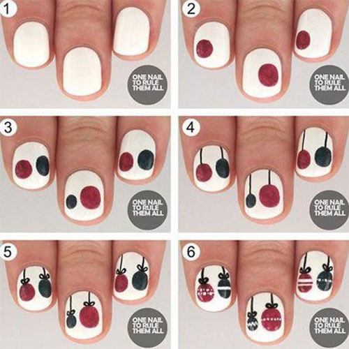 Christmas-Nail-Art-Tutorials-For-Beginners-Learners-2019-5