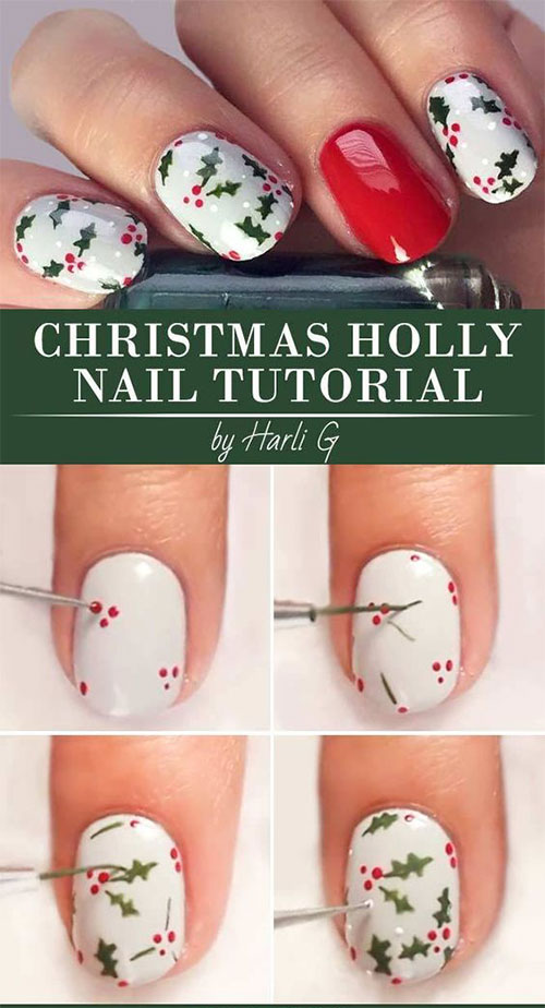 Christmas-Nail-Art-Tutorials-For-Beginners-Learners-2019-6