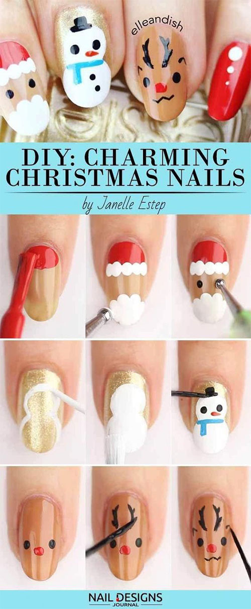 Christmas-Nail-Art-Tutorials-For-Beginners-Learners-2019-7
