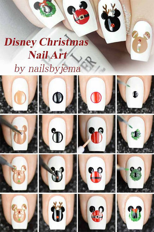 Christmas-Nail-Art-Tutorials-For-Beginners-Learners-2019-8