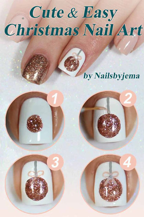 Christmas-Nail-Art-Tutorials-For-Beginners-Learners-2019-9