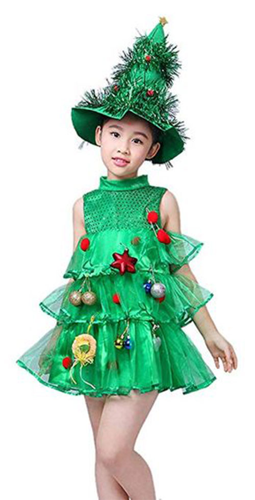Christmas-Tree-Costumes-Outfits-For-Kids-Adults-2019-3