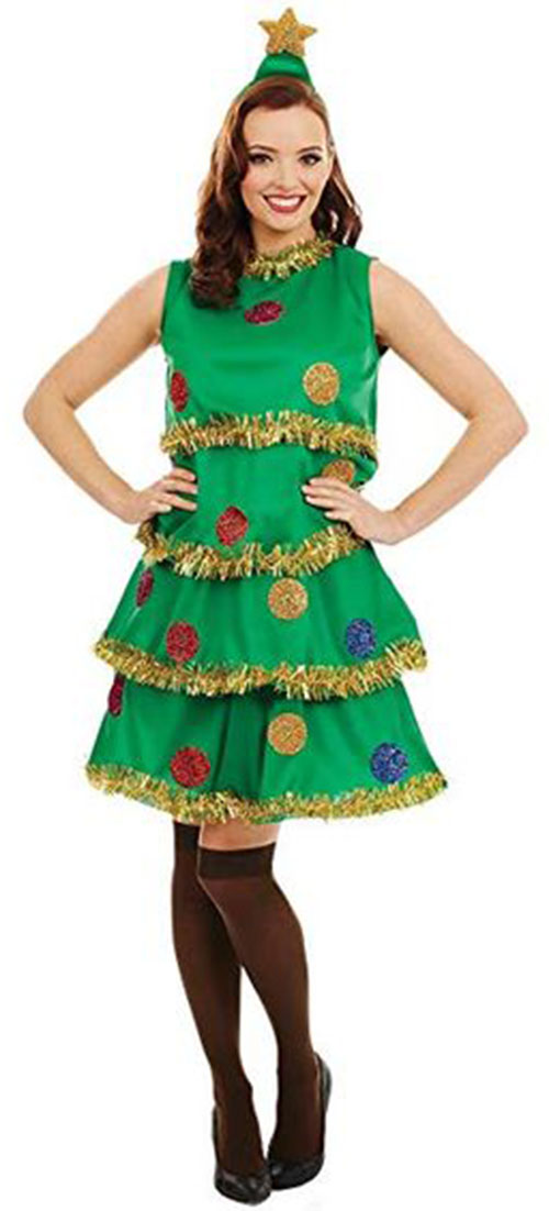Christmas-Tree-Costumes-Outfits-For-Kids-Adults-2019-7